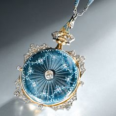Patek Philippe - A rare lady's gold, platinum, diamond and enamel keyless lever pendant watch with matching chain, circa 1910 Cute Jewelry, Vintage Jewelry, Jewelry Accessories, Jewelry Design, Bridal Accessories, Wedding Jewelry, Army Watches, Watches For Men, Pocket Watches