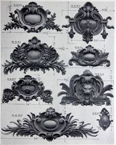 Baroque ARCHI/MAPS — Designs for architectural cartouches Baroque Architecture, Classic Architecture, Architecture Details, Dr Tattoo, Tattoos, Baroque Frame, Etiquette Vintage, Baroque Design, Carving Designs