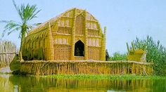 The Floating Basket Homes of Iraq. Found in wetlands in Southern Iraq where people were known as the Ma'dan or 'Arabs of the marsh'. Vernacular Architecture, Ancient Architecture, Amazing Architecture, Architecture Design, Pavilion Architecture, Gothic Architecture, Sustainable Architecture, Residential Architecture, Contemporary Architecture