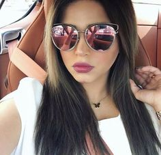 2016 New Italy Brand Sunglasses Sideral Hollow Temple Women Vintage Cat Eye Miror UV400 Sun Glasses Beach Summer Good Quality