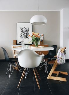 A Lovely Journey, Eames, House Tours, Modern, Dining Room, Chair, Furniture, Small Things, Home Decor