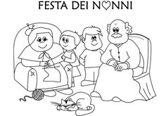 Dede,Nine ve Torun Boyama Adult Coloring, Coloring Pages, Painting People, Grandparents Day, Colorful Pictures, Family Activities, Paint Colors, Snoopy, Education