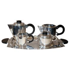 Art Deco coffee/tea service | From a unique collection of antique and modern tea sets at http://www.1stdibs.com/furniture/dining-entertaining/tea-sets/