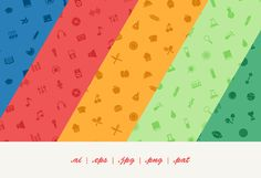 12 Vector Seamless Icon Patterns by Dreamstale on Creative Market
