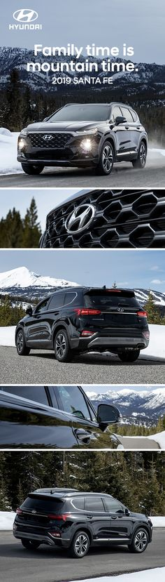 At Hyundai better drives us to make every journey its best. Count on the 2019 Hyundai Santa Fe equipped with available all-wheel drive to handle any weather. Get your gear and go. Santa Fe, Hyundai Cars, Compact Suv, Suv Cars, Family Adventure, Cars And Motorcycles, Journey, Snow, Count