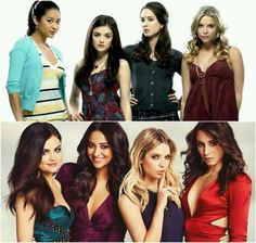 Season 1- Season 4 does anyone notice that in the first pic they look all innocent but than in the second they look all mature and secretive