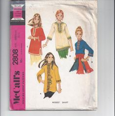 McCall's 2808 Pattern for Misses Shirt or Top by VictorianWardrobe, $8.00