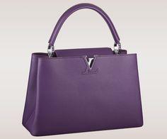 Louis Vuitton Capucines Bag Purple