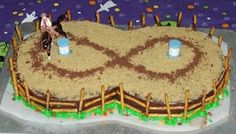 Rodeo 8 birthday cake Cowboy Birthday Cakes, 8th Birthday Cake, Rodeo Birthday, Cowboy Cakes, 6th Birthday Parties, Birthday Ideas, Horse Party, Cowgirl Party, Barrel Racing Cake