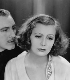 John Barrymore and Greta Garbo, Grand Hotel — 1932 Hollywood Cinema, Vintage Hollywood, John Barrymore, Humphrey Bogart, Rita Hayworth, Female Stars, Hair A, Vintage Glamour, Film Stills