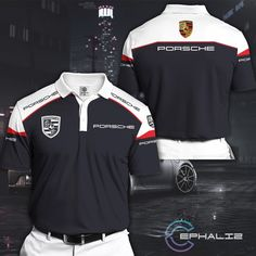Categories - Clothing - Polo Shirt - Car - Horses Car - Page 1 - Macrolid Clothing Corporate Wear, Corporate Identity Design, Free T Shirt Design, Sports Jersey Design, Uniform Design, Style And Grace, Comfortable Fashion, Adidas Jacket, Polo Shirt