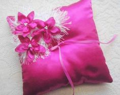 Ring Bearer Pillow  Hot Pink Ring bearer's Pillow  by IDoDoodads, $27.95