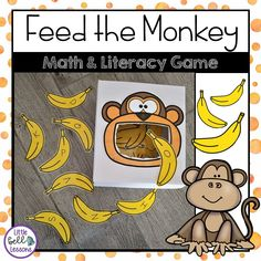 Feed the Monkey Math and Literacy Game