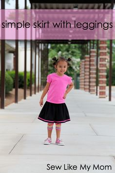 DIY skirt with leggings (leggings are purchased, skirt is sewn to it)