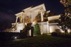 Landscape, residential & commercial lighting for over 20 years Facade Lighting, Commercial Lighting, 20 Years, Curb Appeal, Outdoor Lighting, Nashville, Mansions, Landscape, Architecture