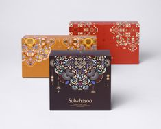 graphic design for Sulwahsoo - Peony Box Set - studio fnt Packaging Dielines, Tea Packaging, Brand Packaging, Pretty Packaging, Packaging Ideas, Design Poster, Graphic Design, Design Design, Diwali Gift Hampers