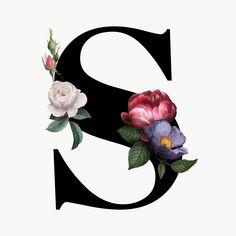 Classic and elegant floral alphabet font letter S transparent png Monogram Wallpaper, Alphabet Wallpaper, S Letter Images, Letter Art, Flower Letters, Monogram Letters, Floral Font, Stylish Alphabets, S Alphabet