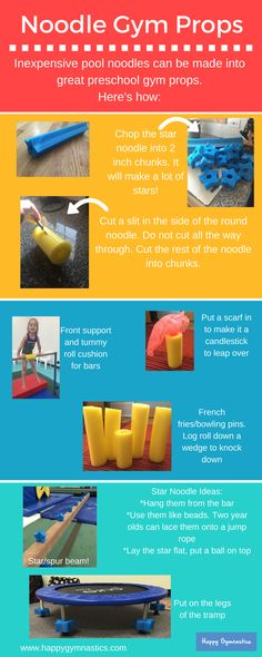 Preschool gymnastics prop ideas!