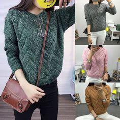 2017  Fashion Women Long Sleeve Knit Tops Casual Turtleneck Pullover Sweaters