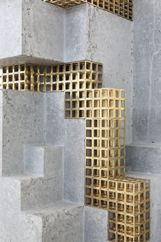 Gold Inspiration at Museum Dhondt-Dhaenens | http://inspirationdesignbooks.com/