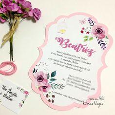 convite aniversário infantil diferente frame vintage floral delicado jardim encantado 1 aninho rosa