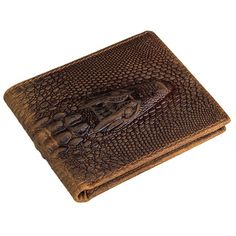 online shopping for Kissloves Men's Vintage Genuine Cow Leather Crocodile Embossed Pattern Short Bifold Wallet from top store. See new offer for Kissloves Men's Vintage Genuine Cow Leather Crocodile Embossed Pattern Short Bifold Wallet Full Grain Leather Wallet, Handmade Leather Wallet, Leather Bifold Wallet, Leather Man Purse, Cow Leather, Cowhide Leather, Leather Bags, Leather Handbags, Style Vintage