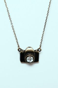 LoveMelrose.com From Harry & Molly | Toy Camera Short Neckles - SMALL NECKLACES - JEWELRY