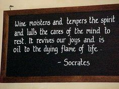 Wine Socrates is a great man! Socrates Quotes, Wine Education, Wine Cocktails, Drink Wine, Wine Quotes, Italian Wine, Wine Time, Wine And Spirits, Wine Making