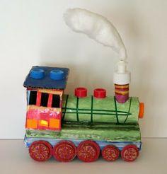 w poMyskowym świecie: lokomotywa -- Recycled train craft