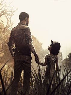 Telltales The Walking Dead Season 1, Lee and Clementine.