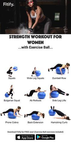 kettlebell cardio,kettlebell training,kettlebell circuit,kettlebell for women Swiss Ball Exercises, Stability Ball Exercises, Balance Ball Exercises, Fitness Workouts, Workout Exercises, Dumbbell Workout, Exercise Ball Workouts, Fitness Ball Exercises, Exercise Routines