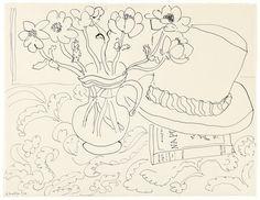 Henri Matisse Nature Morte au Chapeau Tahitien, 1944 pen on paper 15 1/2 x 20 1/4 in / 39.5 x 51.5 cm