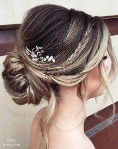 New Hair Styles Recogido Diy Bridesmaid Hair 49 Ideas Wedding Hair Down, Wedding Hair And Makeup, Wedding Veils, Wedding Upstyles, Wedding Ceremony, Wedding Dresses, Wedding Hairstyles For Long Hair, Prom Hairstyles, Hairstyle Wedding