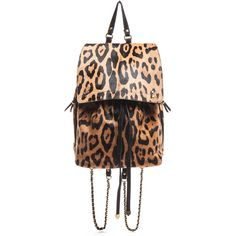 Jerome Dreyfuss Florent Leopard Backpack ($1,140) ❤ liked on Polyvore featuring bags, backpacks, accessories, handbags, women, black drawstring backpack, leopard print backpack, black rucksack, leopard backpack and black leather bag