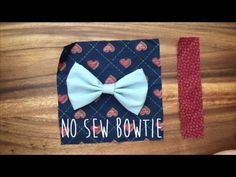 How To Make A No Sew Clip On Bow Tie - YouTube