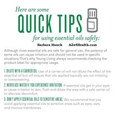 Young Living Essential Oils - quick tips for using oils safely.  #DIY #health…