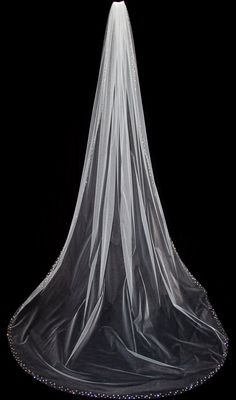Wedding Veil with Crystal Edge Cathedral Length by pureblooms, $185.00
