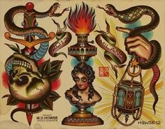M. D. Howse  Spider Murphy's Tattoo Flash