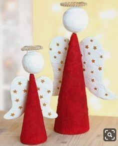 Christmas Crafts To Sell, Handmade Christmas Decorations, Christmas Tree Toppers, Diy Christmas Ornaments, Christmas Angels, Xmas Decorations, Christmas Art, Christmas Projects, Simple Christmas