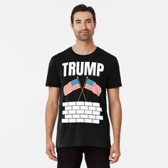 TRUMP 2020 election - Get yourself a funny custom desing from RIVEofficial Redbubble shop : )) .... tags: #president   #usa #donaldtrump  #funny #trump #buildawall #wall #humour #republican  #democrat #election #trump #2020 #findyourthing #shirtsonline #trends #riveofficial #favouriteshirts #art #style #design #nature #shopping #insidecollection #redbubble #digitalart #design #fashion #phonecases #access #customproducts #onlineshopping #accessories #shoponline #onlinestore #shoppingonline Stylish Shirts, Tshirt Colors, Donald Trump, Looks Great, Custom Design, Shirt Designs, Trends, Tags, Usa