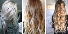 Silver Blonde, Summer Blonde and Creamy Blonde