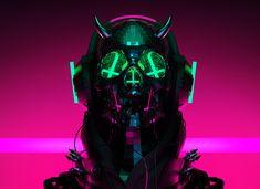 Auʇıɔɥɹısʇ on Behance Cyberpunk Character, Cyberpunk Art, Image Psychedelic, Angel Protector, Character Art, Character Design, Cyberpunk Aesthetic, Futuristic Art, Hippie Art