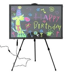 LED Board with Easel; write on with liquid chalk markers