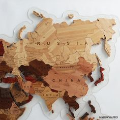 Wooden World Map. : 11 Steps (with Pictures) - Instructables Wood World Map, World Map Decor, Map Wall Decor, Wall Maps, Antique Maps, Vintage Maps, Free Printable World Map, Organic Glass, Wooden Map