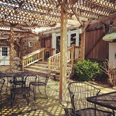 Gorgeous patio at Hillsborough Vineyards in Loudoun, VA