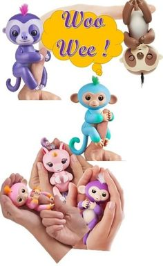 Fun Fingerlings Woowee Motion Toys Fun Games Sleeping Eyes Movement Monkey Baby Sleuth Unicorn Respond to sound, motion, and touch with blinking eyes, head turns, and silly babble family games Cute Crafts, Crafts For Kids, Cute Doodles Drawings, Crochet Game, Wow Wee, Pokemon, Doll Games, Monkey Baby, Polymer Clay Canes