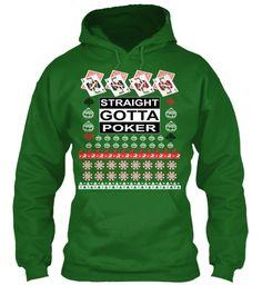 Ugly Poker Christmas Hoodies  Irish Green Sweatshirt Front
