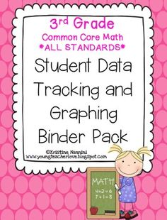 3rd Grade Common Core Math Student Data Tracking Binder Pack *ALL STANDARDS* - Miss Nannini - TeachersPayTeachers.com