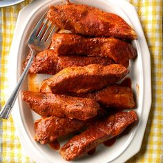 These get a good sear under the broiler, then go into the slow cooker to become fall-apart tender. Enjoy them with great sides, or shredded on a bun. Either way, they're the most amazing ribs you'll … Rib Recipes, Slow Cooker Recipes, Cooking Recipes, Crockpot Recipes, Crockpot Dishes, Smoker Recipes, Potluck Recipes, Oven Recipes, Amigurumi
