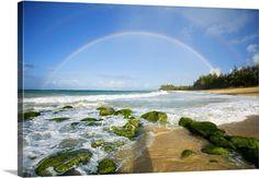 Hawaii, Maui, Double Rainbows Over Baldwin Beach